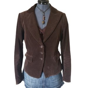 H&M Three Button Brown Corduroy Blazer